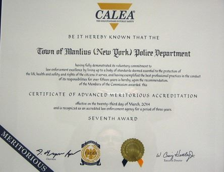 CALEA Certificate of Accreditation