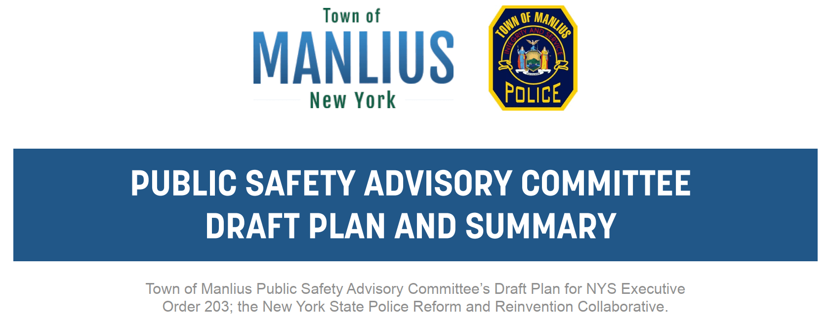 PUBLIC SAFETY ADVISORY COMMITTEE DRAFT PLAN AND SUMMARY